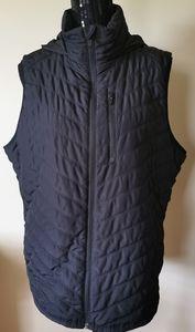 Zella Black Chevron Puffer Vest Size Large